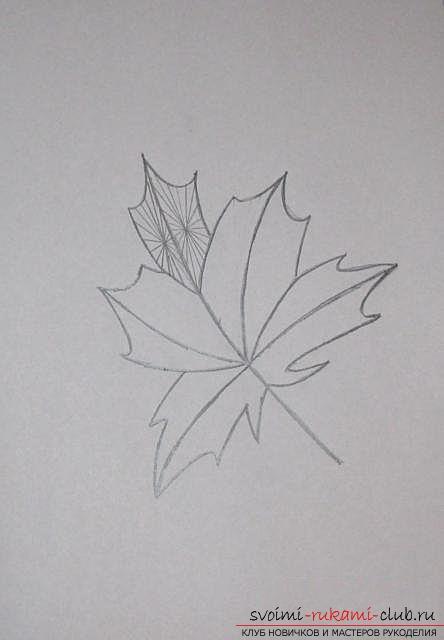 Вышиваем осенний лист в технике «изонить». Фото №9