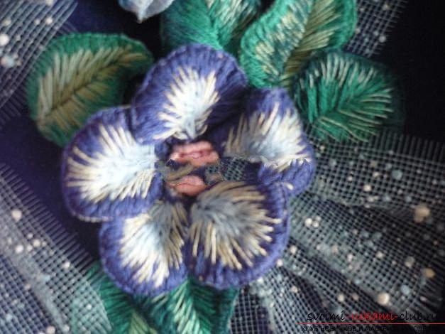 Вышиваем розу.. Фото №24