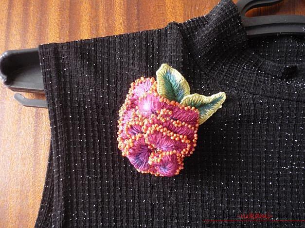 Вышиваем розу.. Фото №21