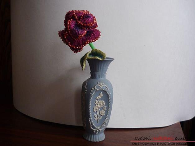 Вышиваем розу.. Фото №23