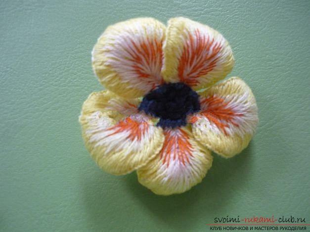 Вышиваем розу.. Фото №26
