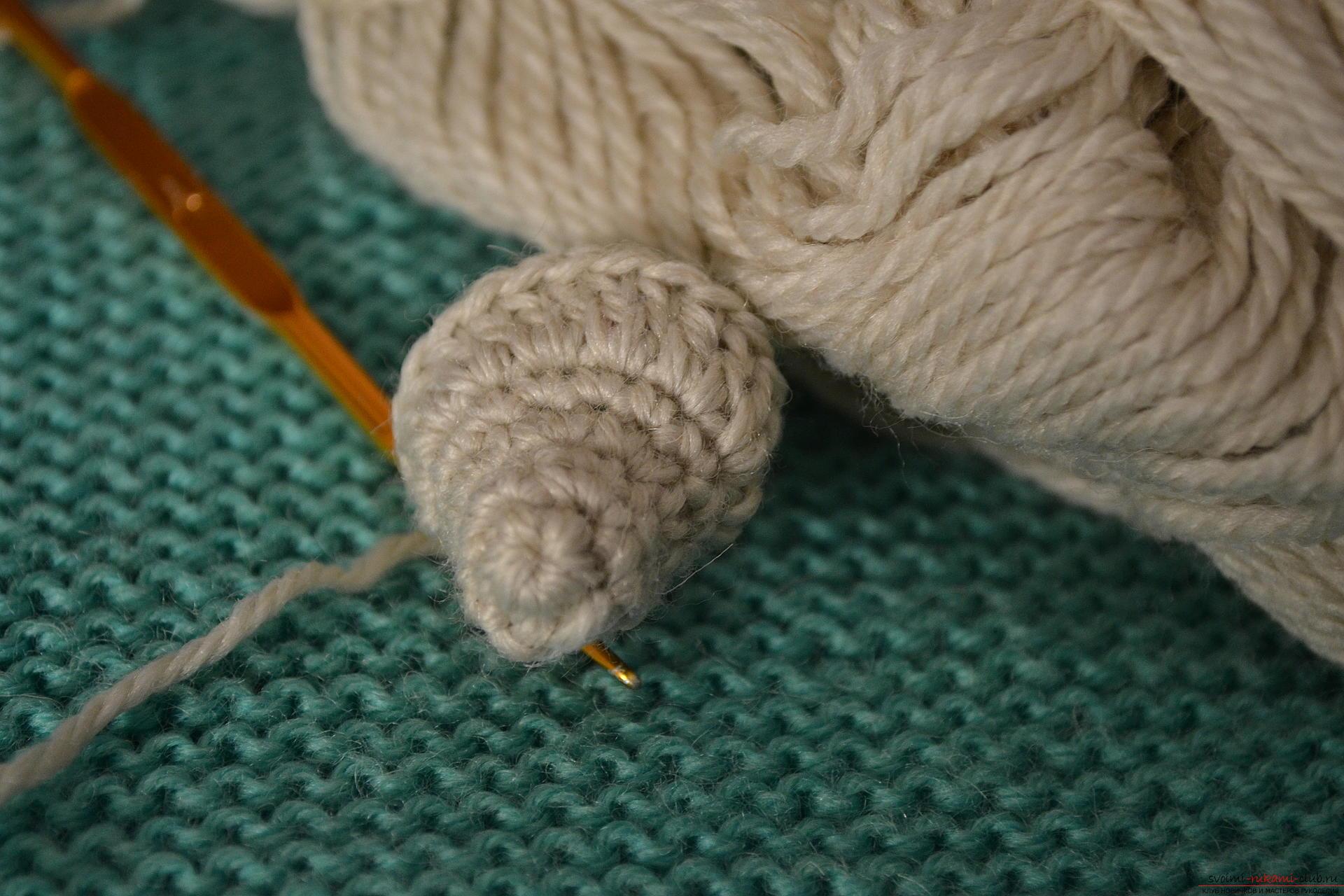 Вязание полустолбика крючком фото