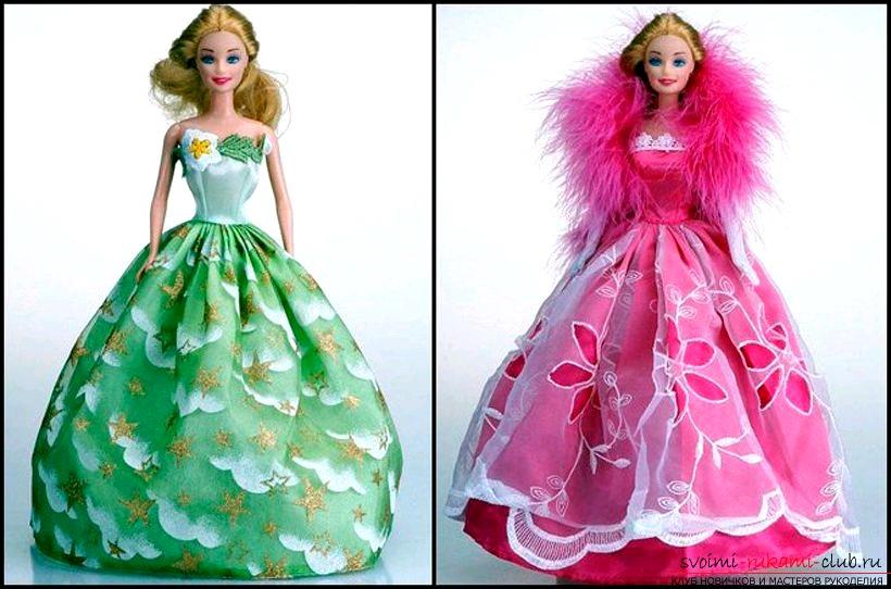 Как сшить платье для куклы барби своими руками картинки