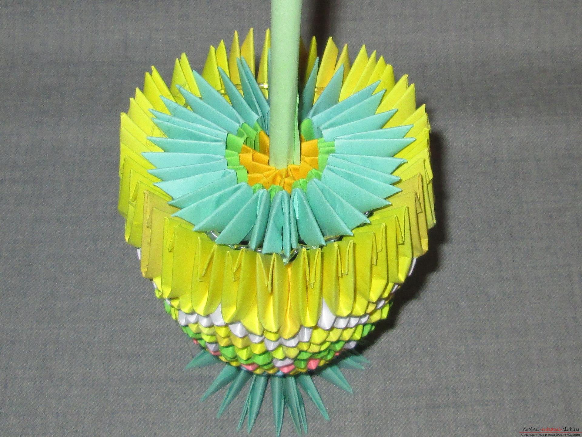 Модульное оригами вазы с пошаговым фото