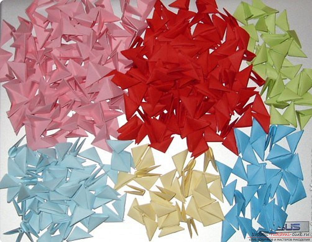 попугай в технике модульное оригами. Фото №1