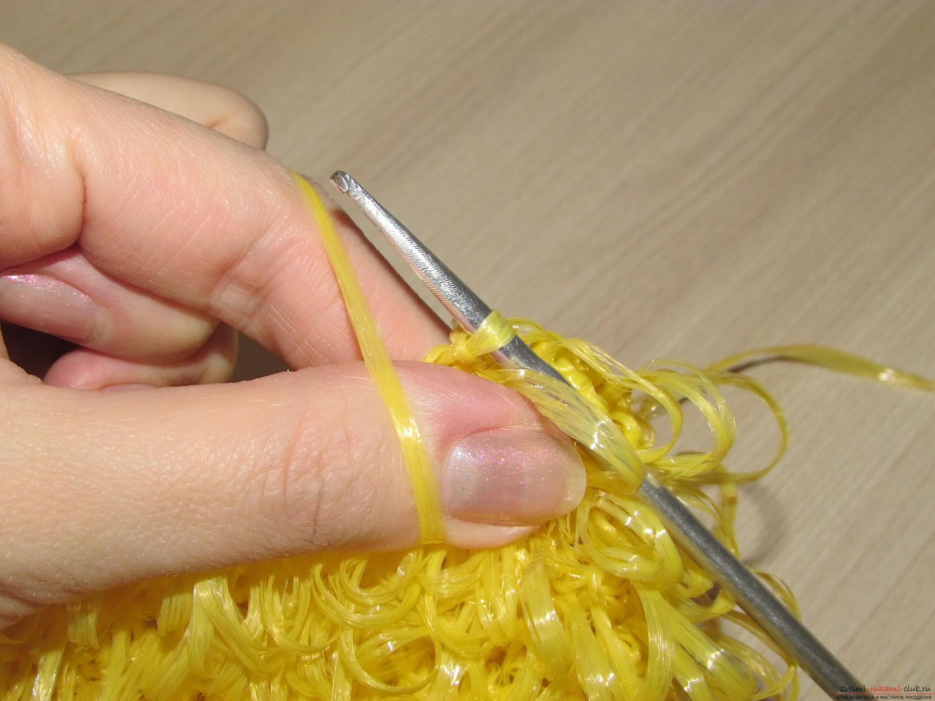 Как вязать мочалку крючком для начинающих пошагово