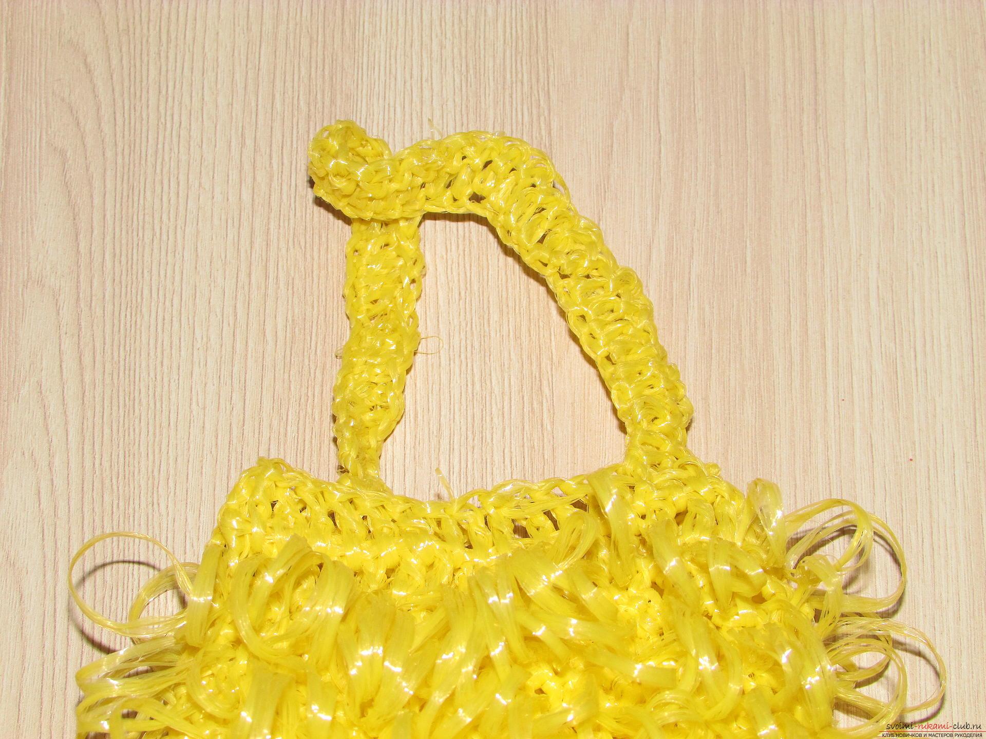 Вязание крючком мочалку в баню 276