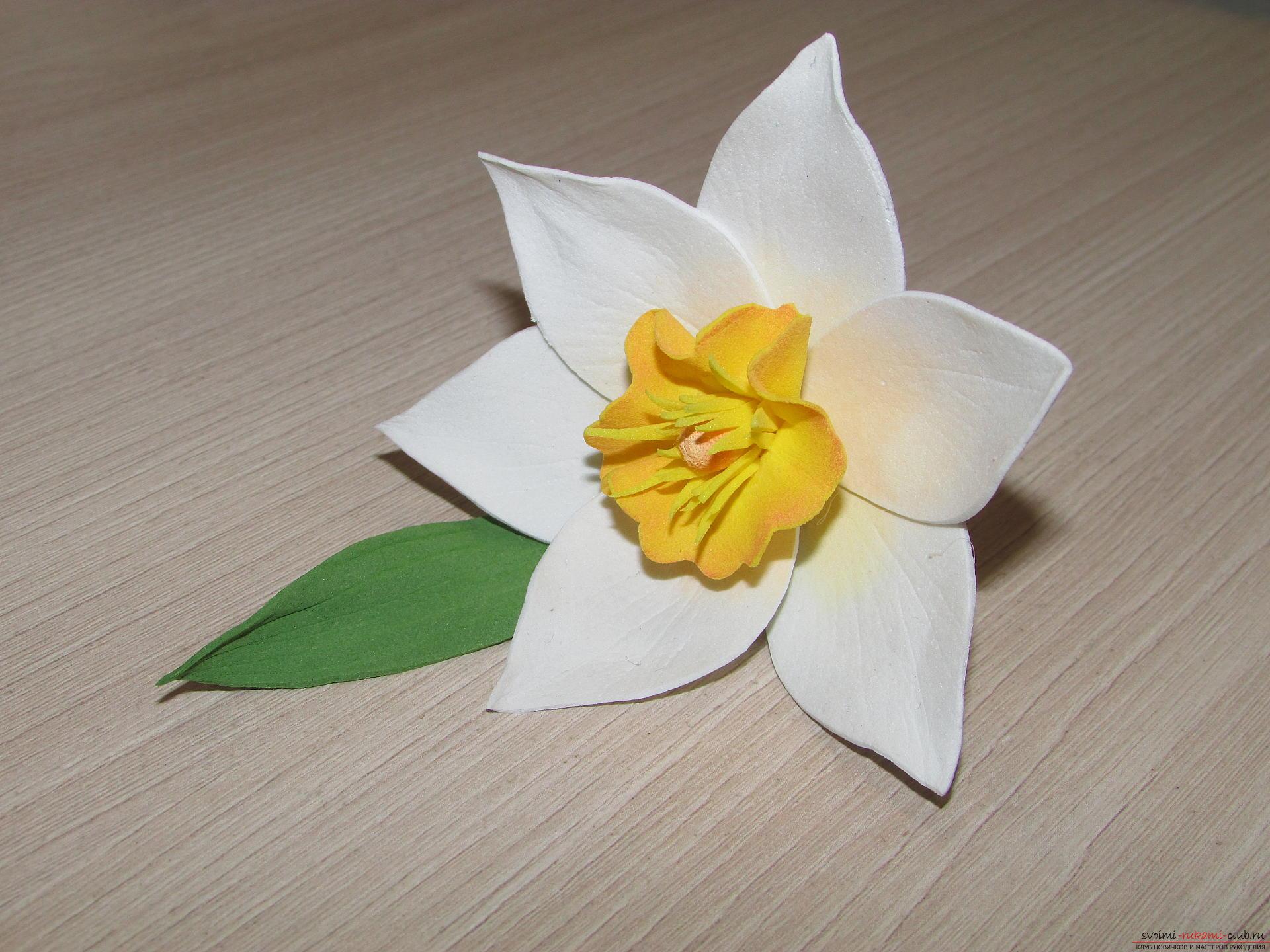 Цветы из фоамирана мастер класс с пошаговым фото и выкройки