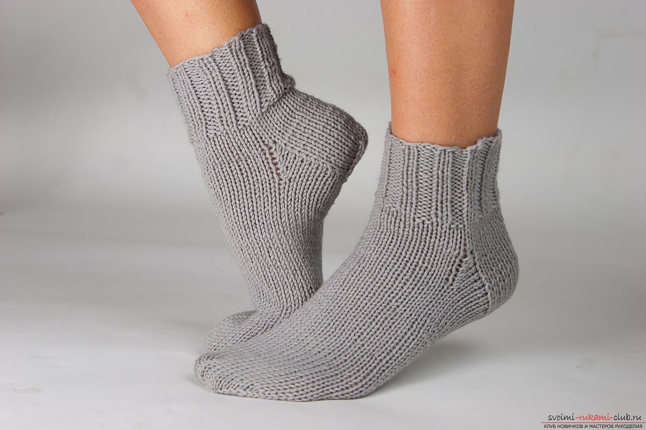 вязание носков на 2 спицах. Фото №1