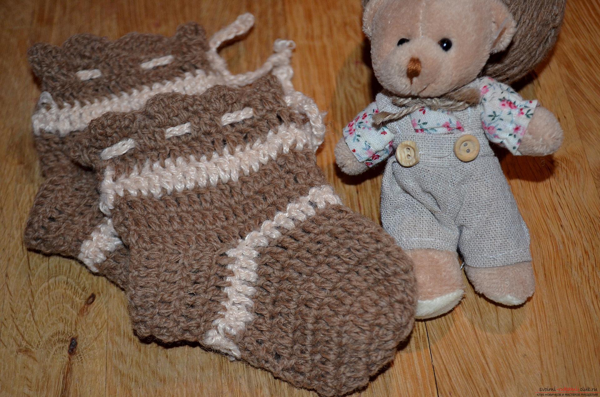 Вязание носков новорожденным 72