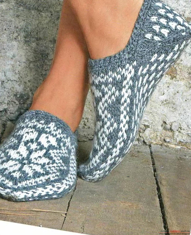 Схема вязания носков тапочек