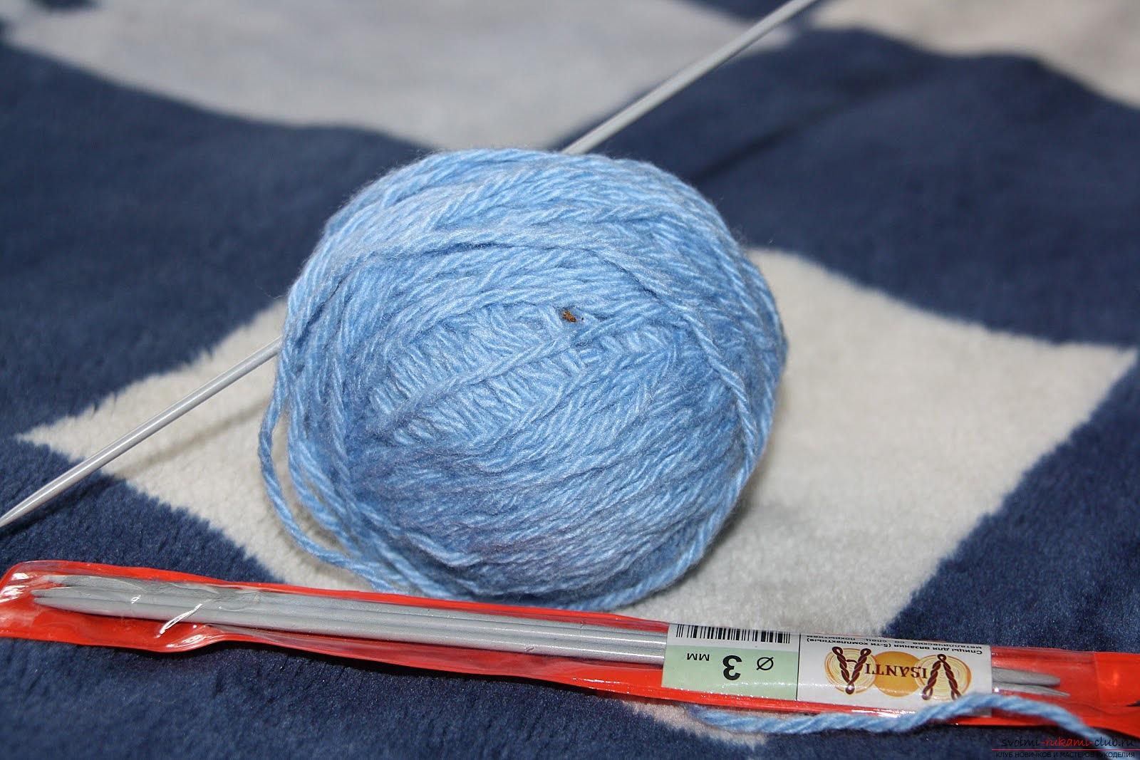 Вяжем теплые носочки для ребенка. Мастер-класс для начинающих рукодельниц с фото. Фото №2
