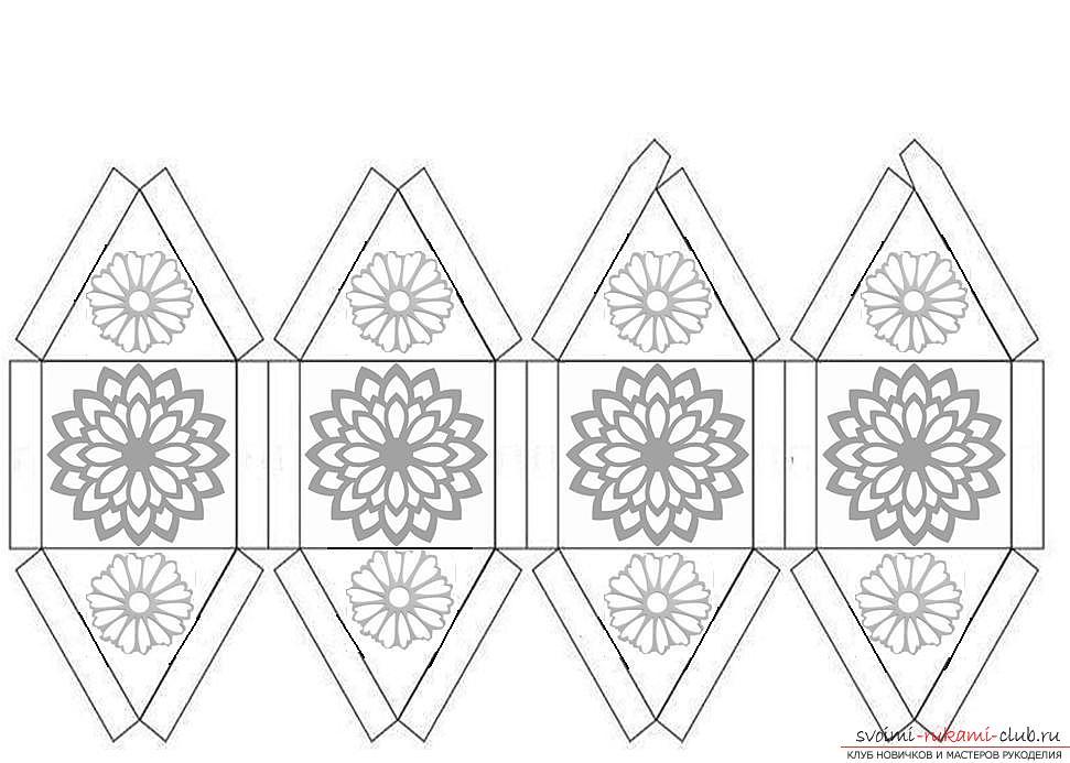Схемы фонариков из бумаги