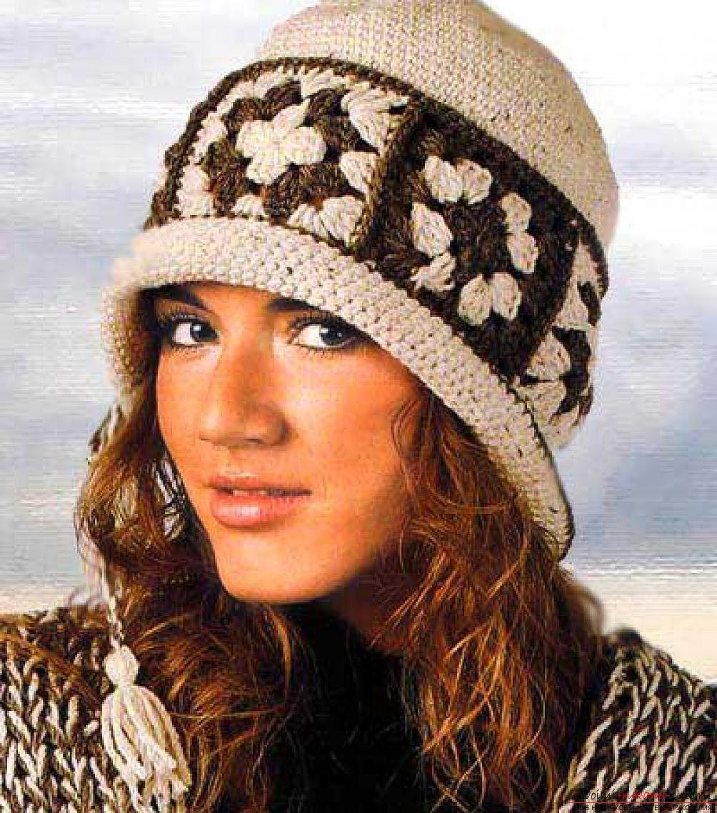 схемы вязания шапопок