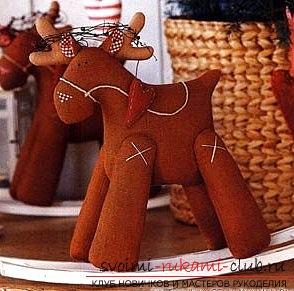 Как сделать выкройку и прекрасную игрушку тильды-оленя своими руками