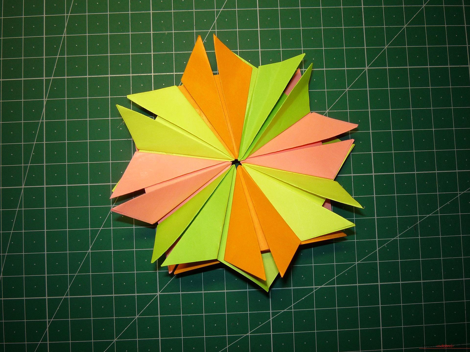 Как сделать звезду оригами из модулей