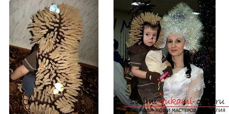 Новогодний костюм ежика для мальчика своими руками фото 848