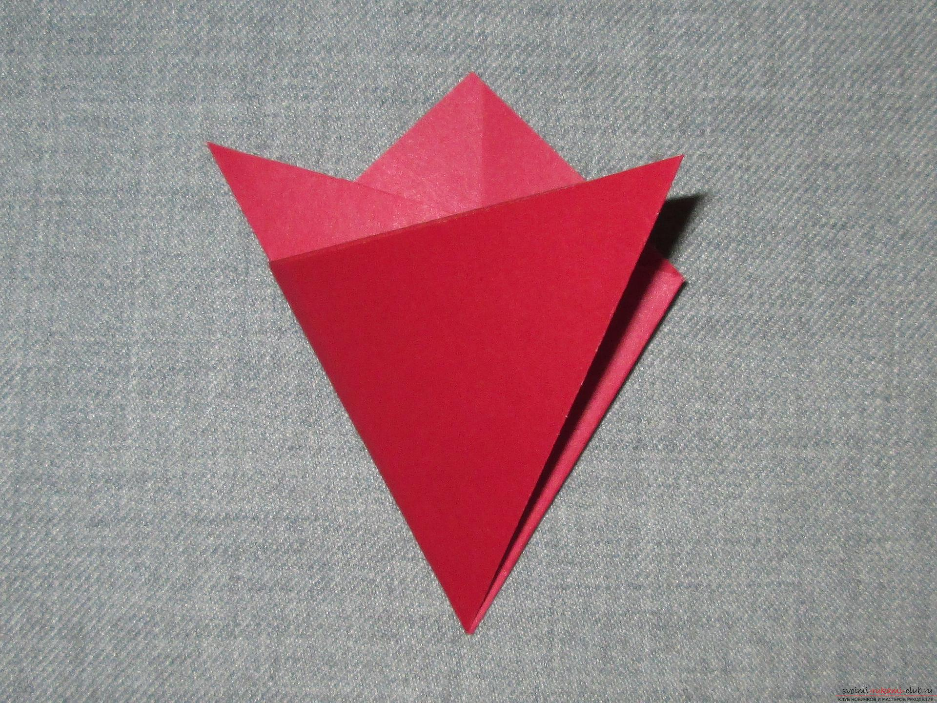 Оригами из бумаги для детей открытка
