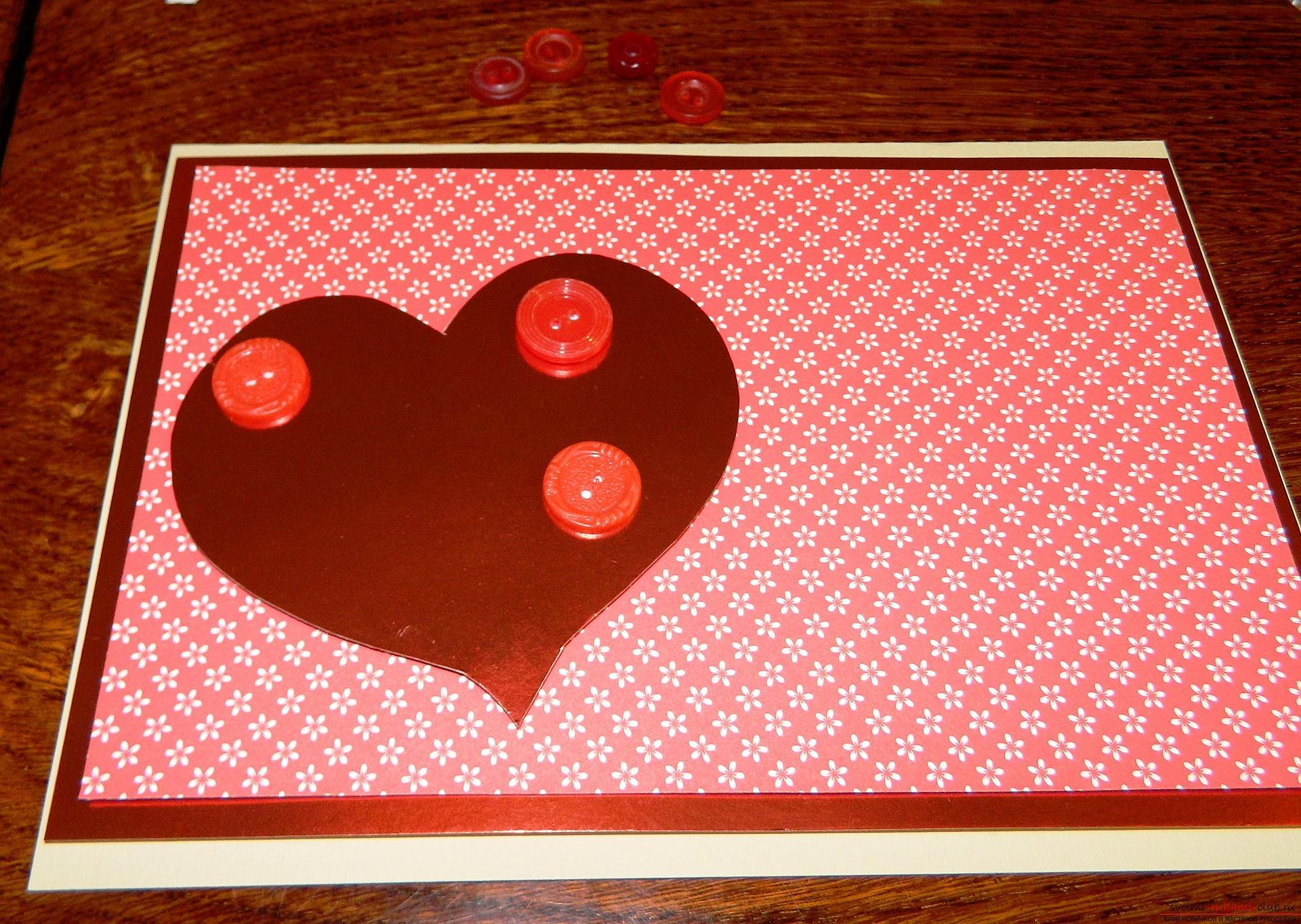 Сердце открытка мастер класс