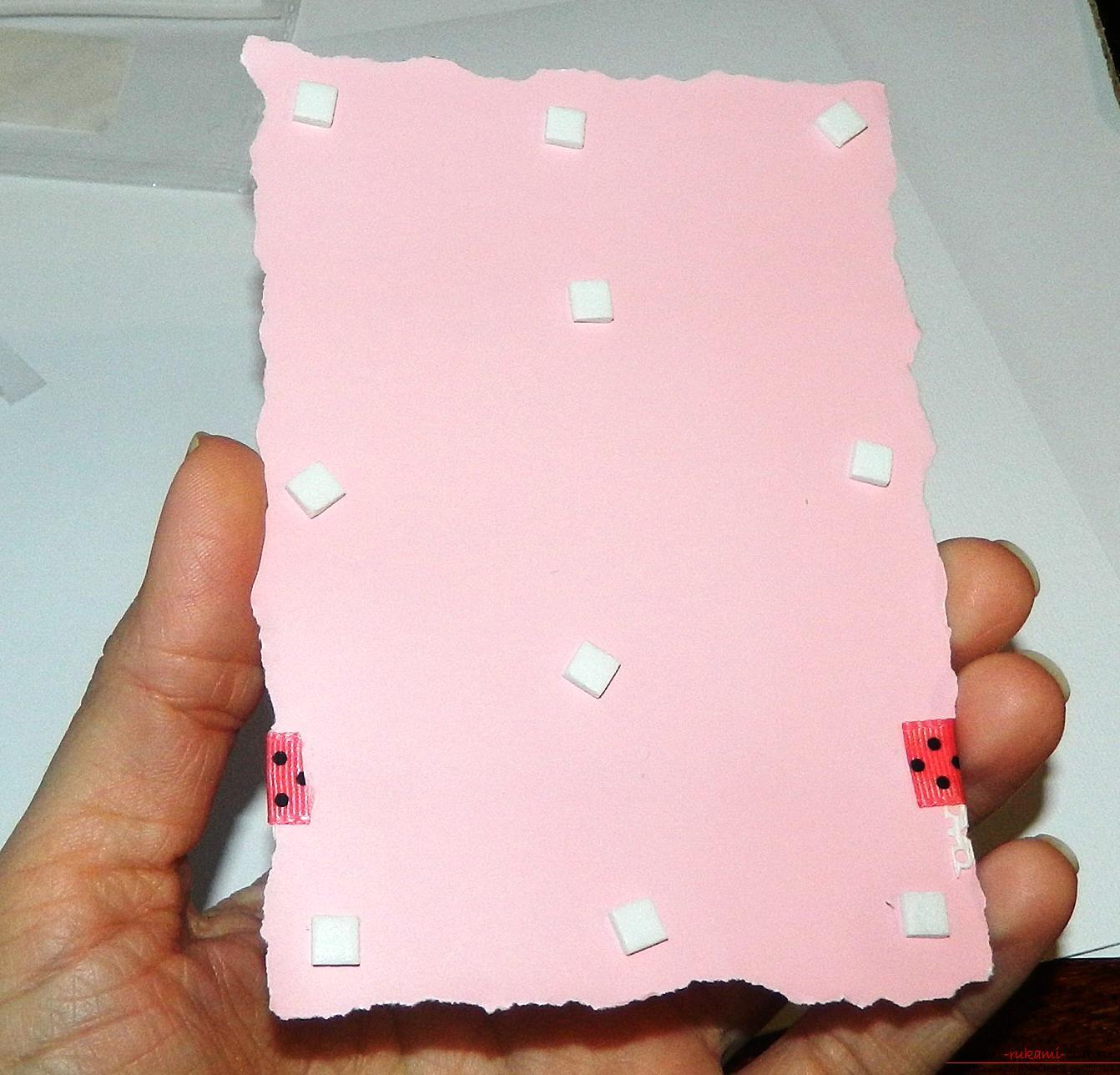 Красивые открытки своими руками поможет сделать наш мастер-класс, это валентинки ко дню влюбленных.. Фото №9
