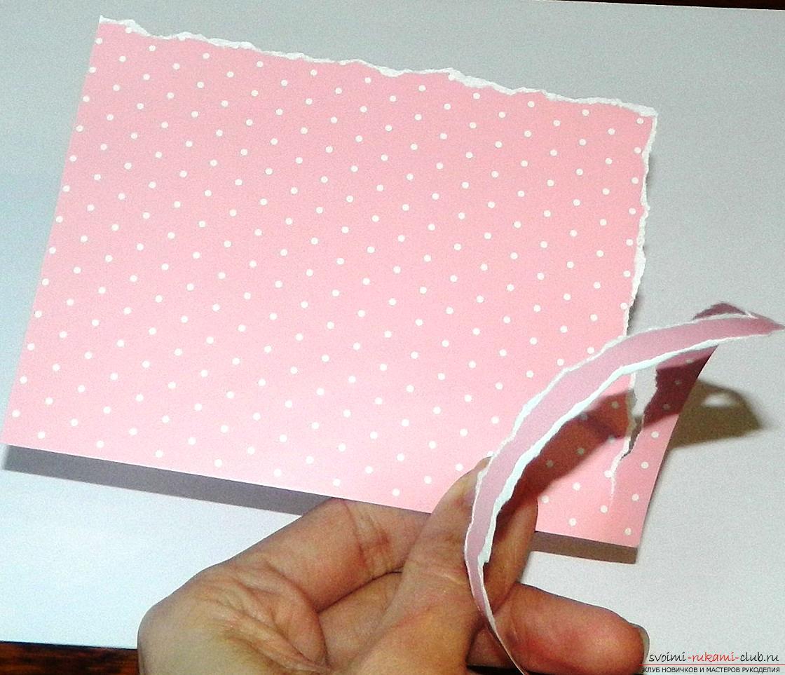 Красивые открытки своими руками поможет сделать наш мастер-класс, это валентинки ко дню влюбленных.. Фото №2