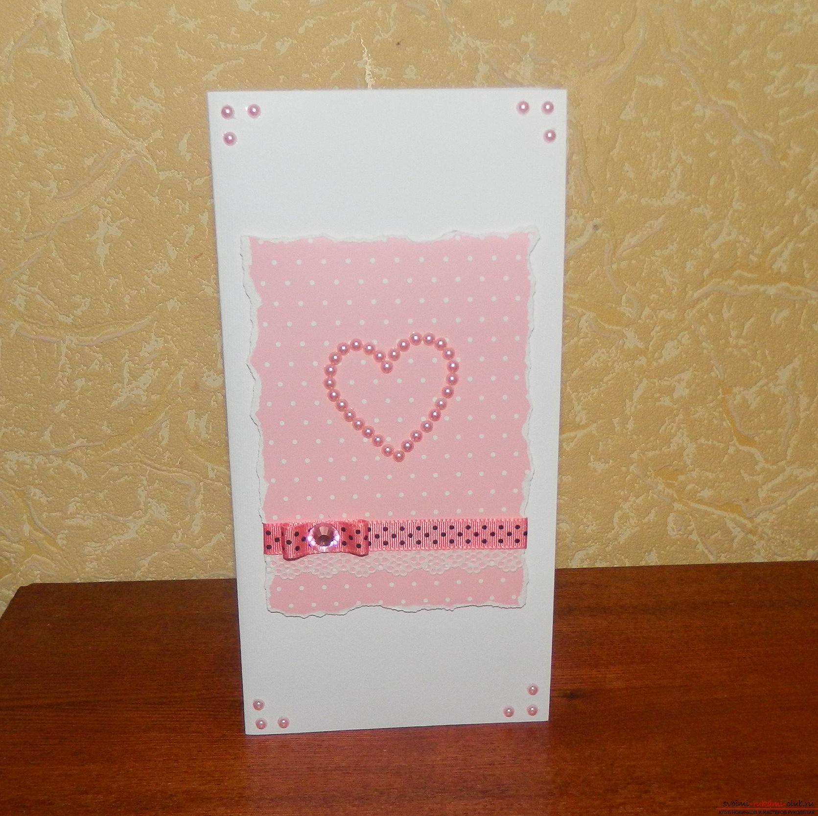 Красивые открытки своими руками поможет сделать наш мастер-класс, это валентинки ко дню влюбленных.. Фото №1