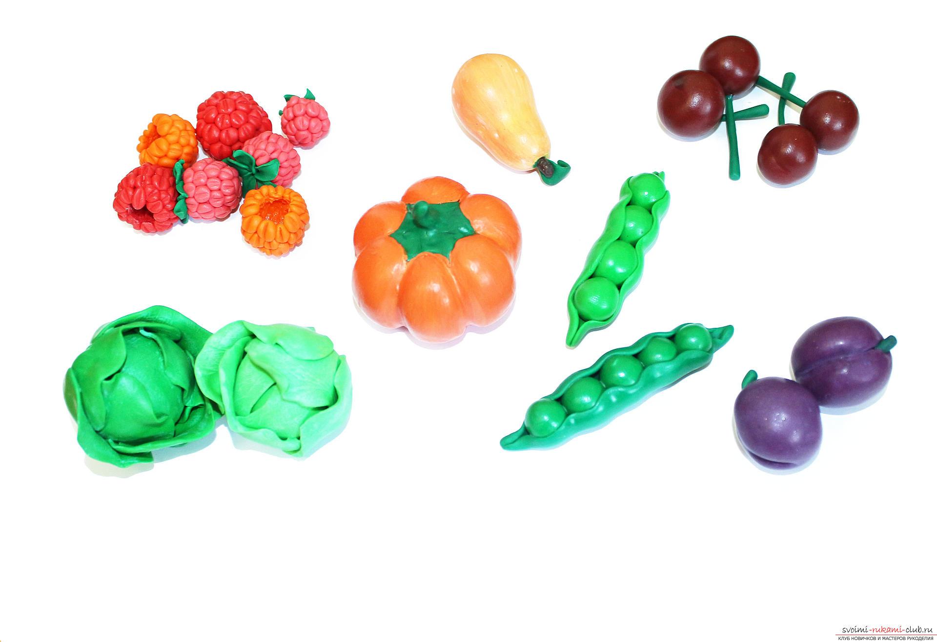 Поделки из пластилина овощи фото