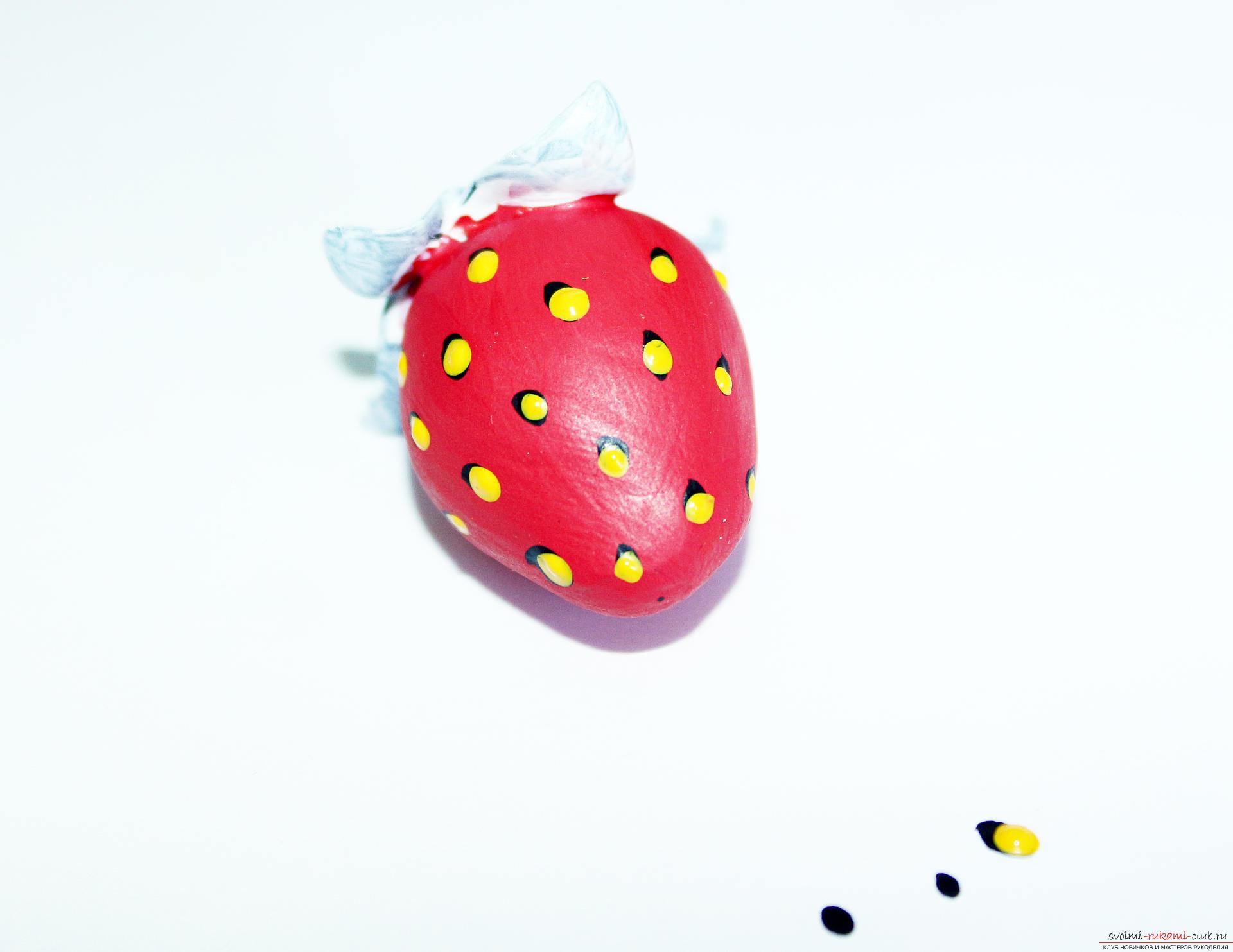 Этот подробный мастер-класс по лепке из полимерной глины расскажет как сделать своими руками фигурки из полимерной глины - овощи и фрукты для детей.. Фото №51