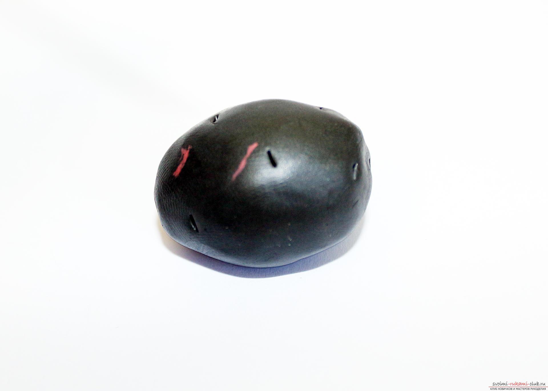 Этот подробный мастер-класс по лепке из полимерной глины расскажет как сделать своими руками фигурки из полимерной глины - овощи и фрукты для детей.. Фото №13