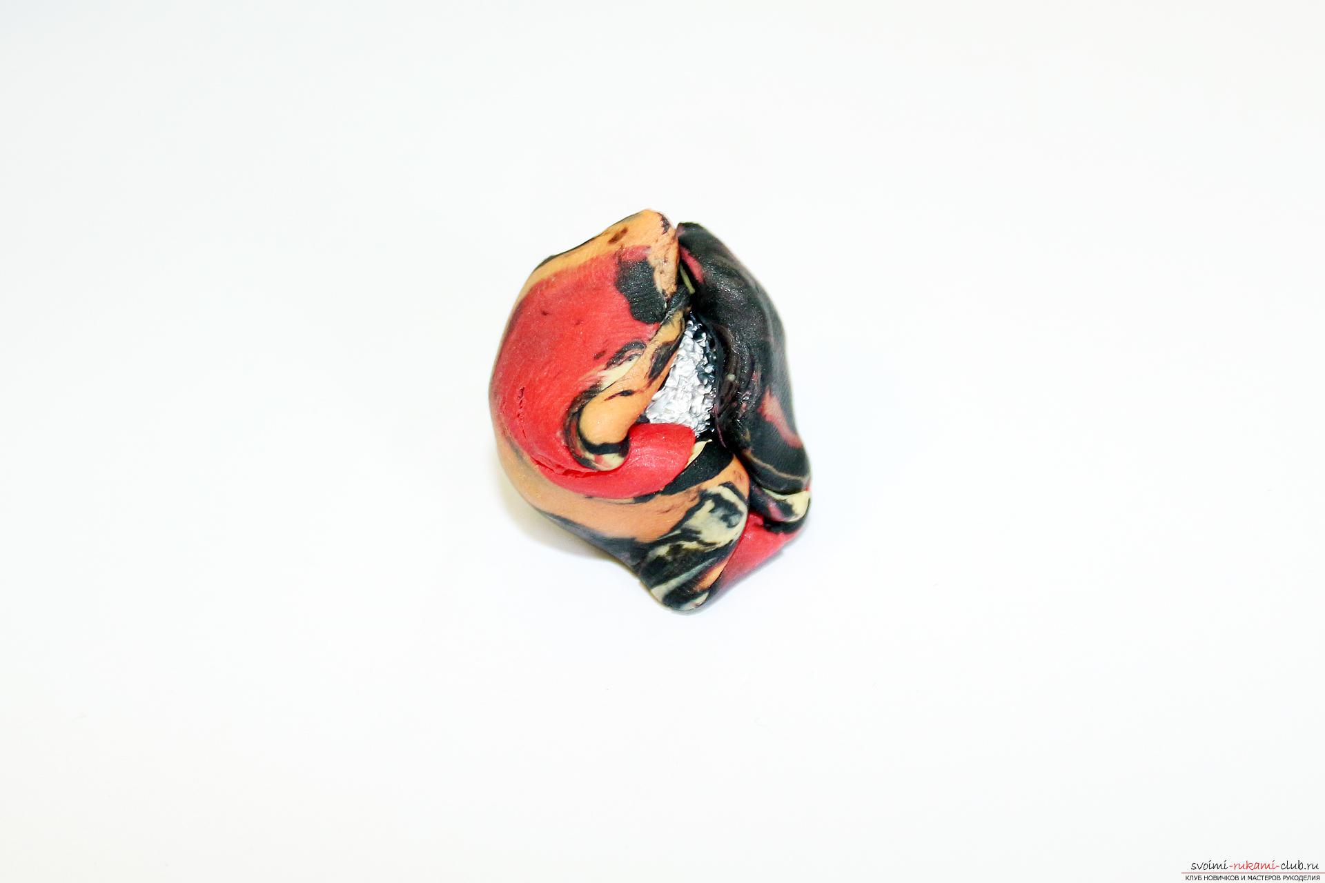 Этот подробный мастер-класс по лепке из полимерной глины расскажет как сделать своими руками фигурки из полимерной глины - овощи и фрукты для детей.. Фото №7