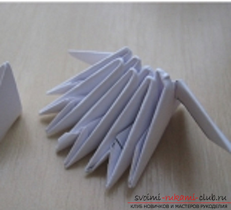 модульное оригами снеговик. Фото №5