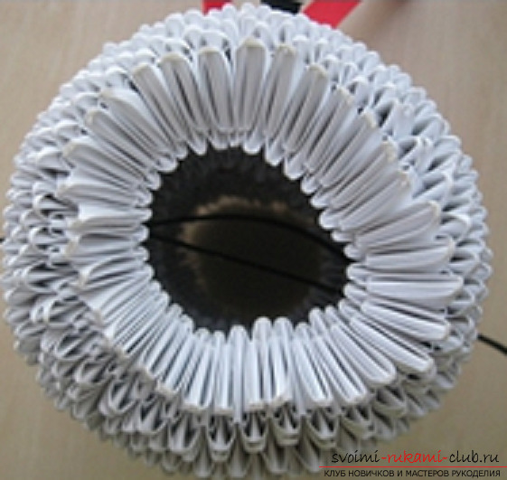 модульное оригами снеговик. Фото №9
