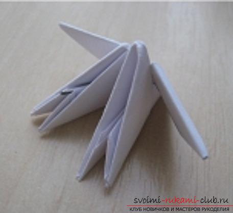 модульное оригами снеговик. Фото №3