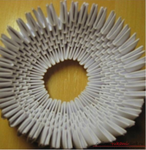 модульное оригами снеговик.
