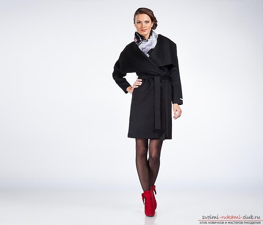Как сшить модное пальто с цельнокроеными рукавами своими руками. Выкройка пальто с инструкцией по пошиву. Фото №1