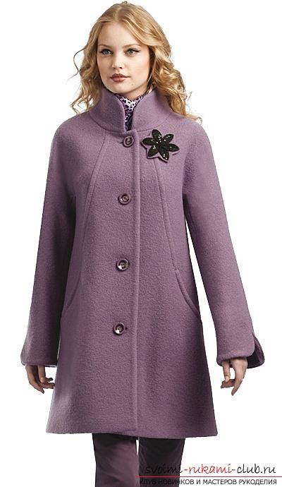 пальто женское прямого с капюшоном выкройка