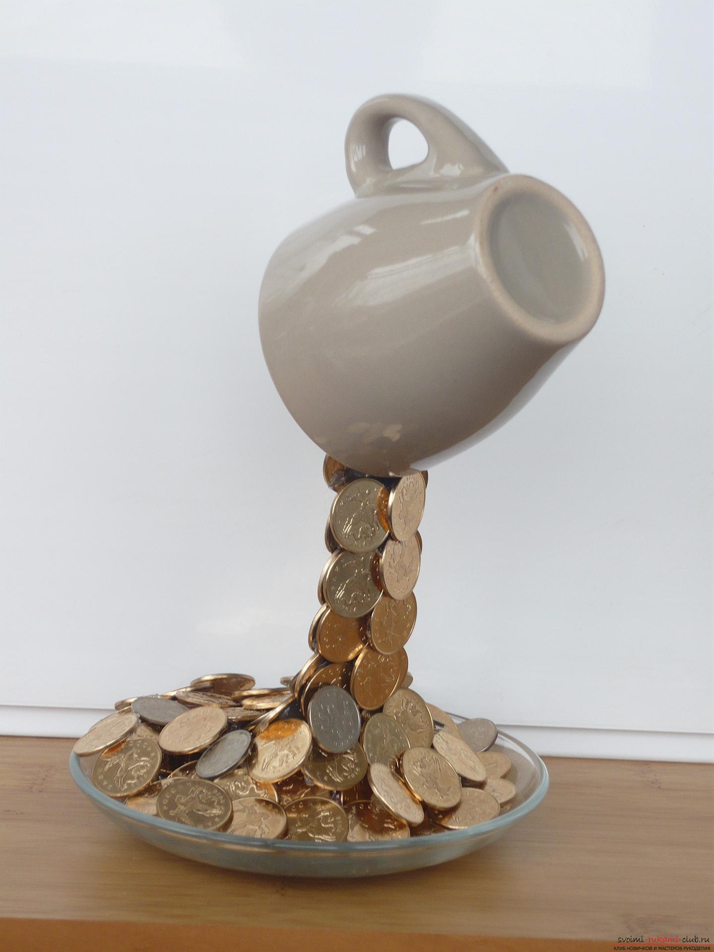 Парящая чашка с монетами своими руками мастер класс 354