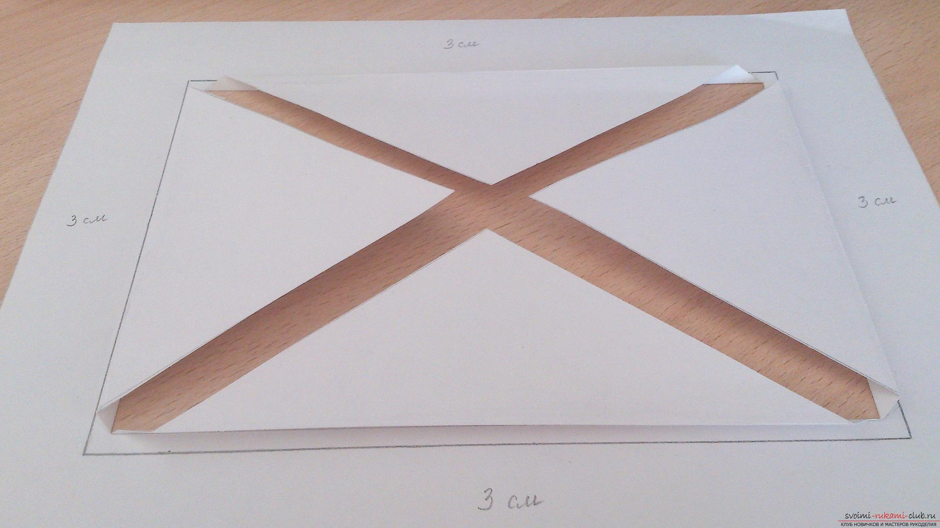из чего сделать паспарту для открытки