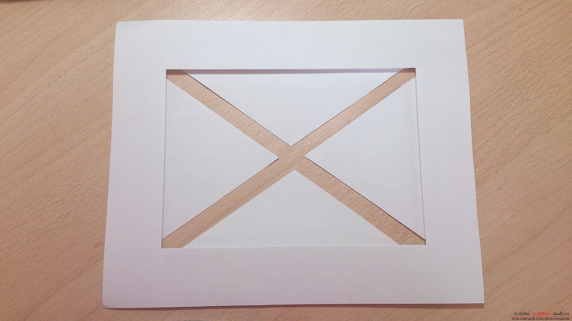 Как сделать паспарту для рисунка своими руками 413
