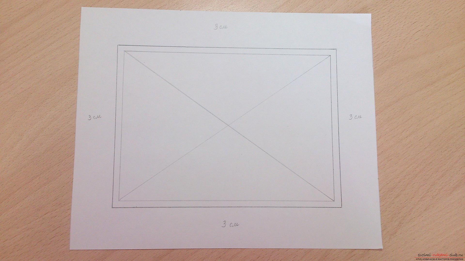 Как сделать паспарту для рисунка своими руками 375