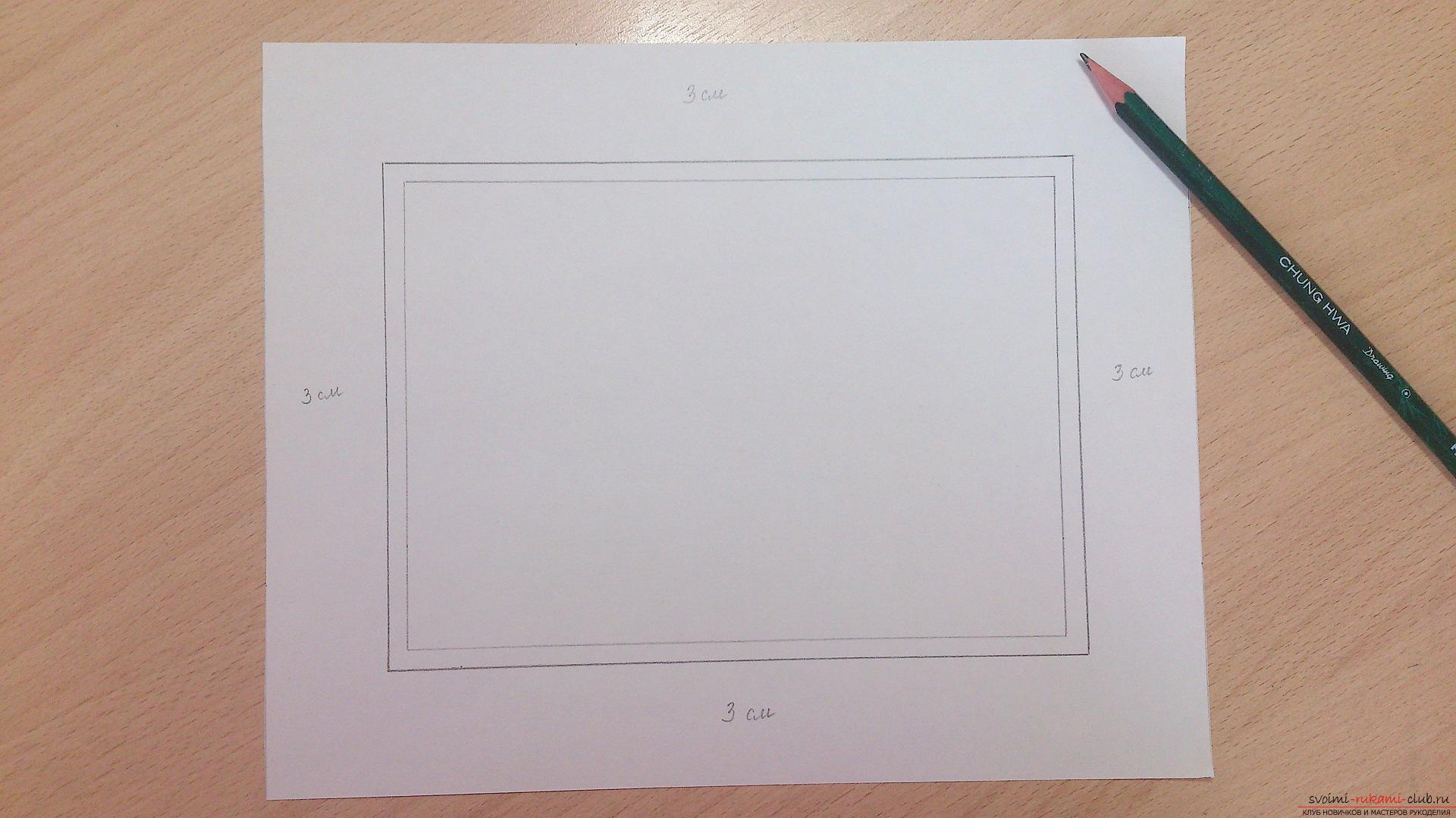 Как сделать паспарту для рисунка своими руками 534