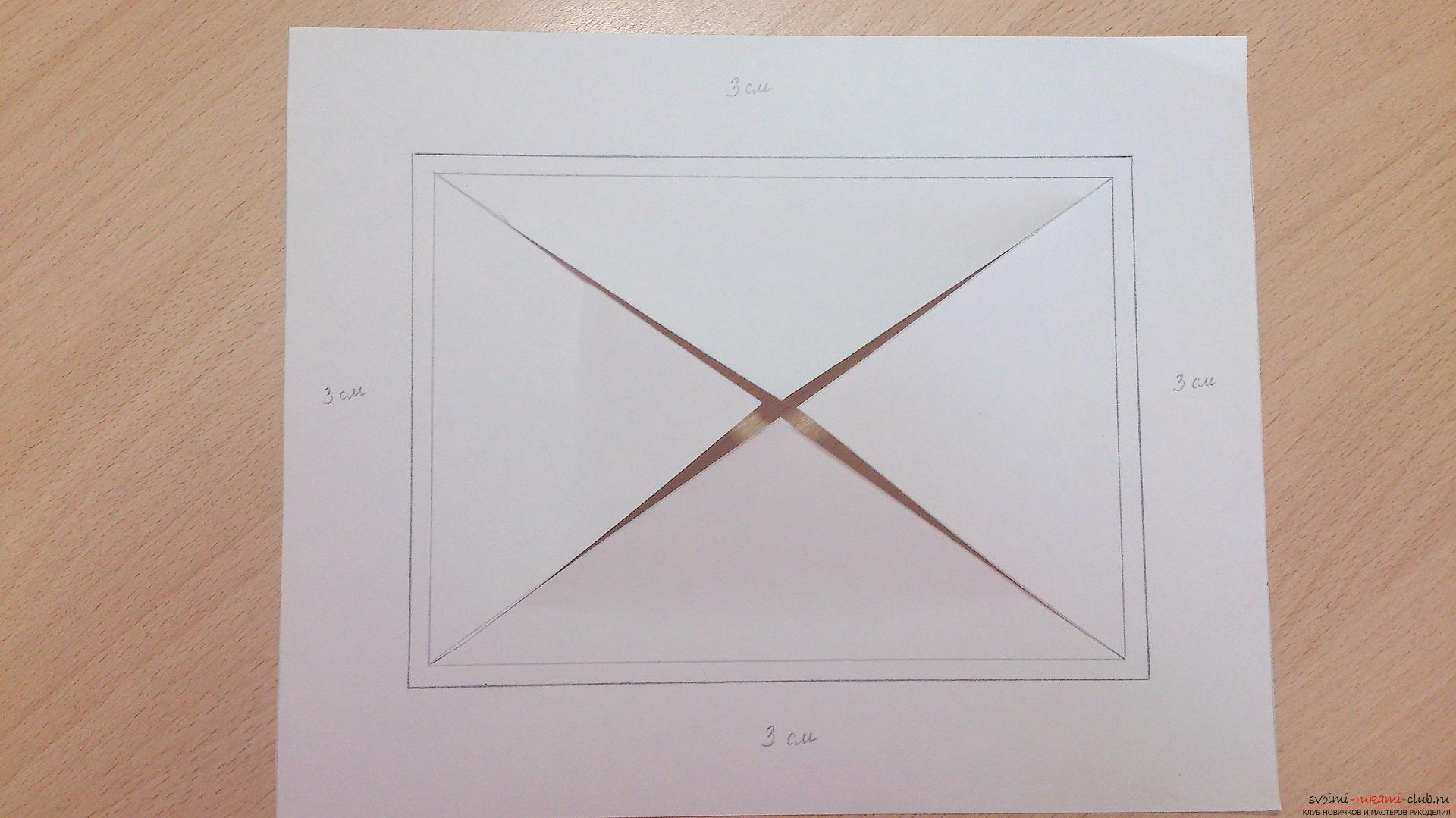Как сделать паспарту для рисунка своими руками 889