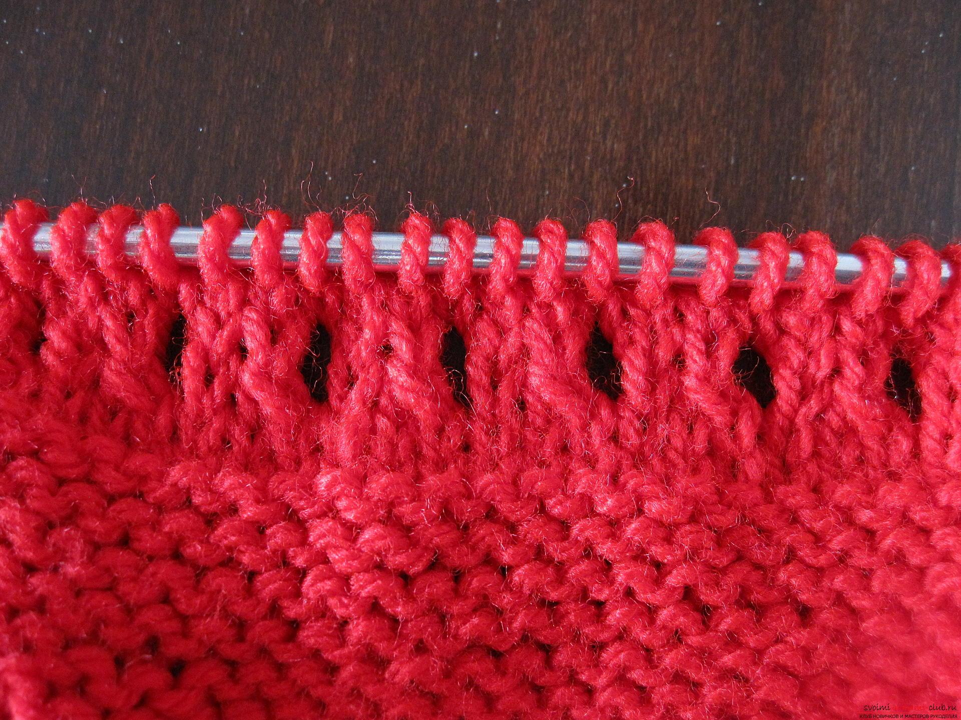 Этот мастер-класс с фото и описанием вязания спицами для детей научит вязать пинетки.. Фото №11