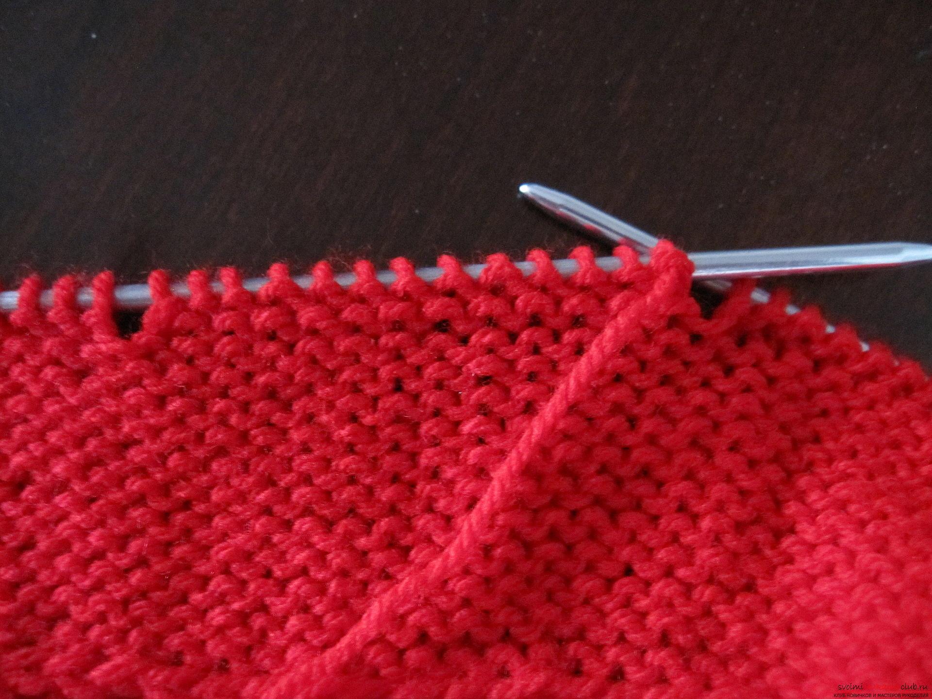 Этот мастер-класс с фото и описанием вязания спицами для детей научит вязать пинетки.. Фото №7