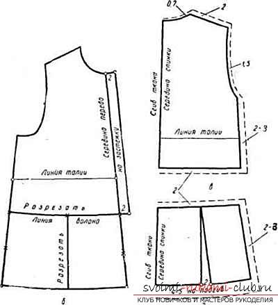 Как построить выкройку платья для девочки 7 лет