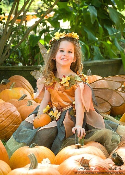 Создаем легкое изысканное платье из листьев своими руками, для осеннего бала. Фото №1