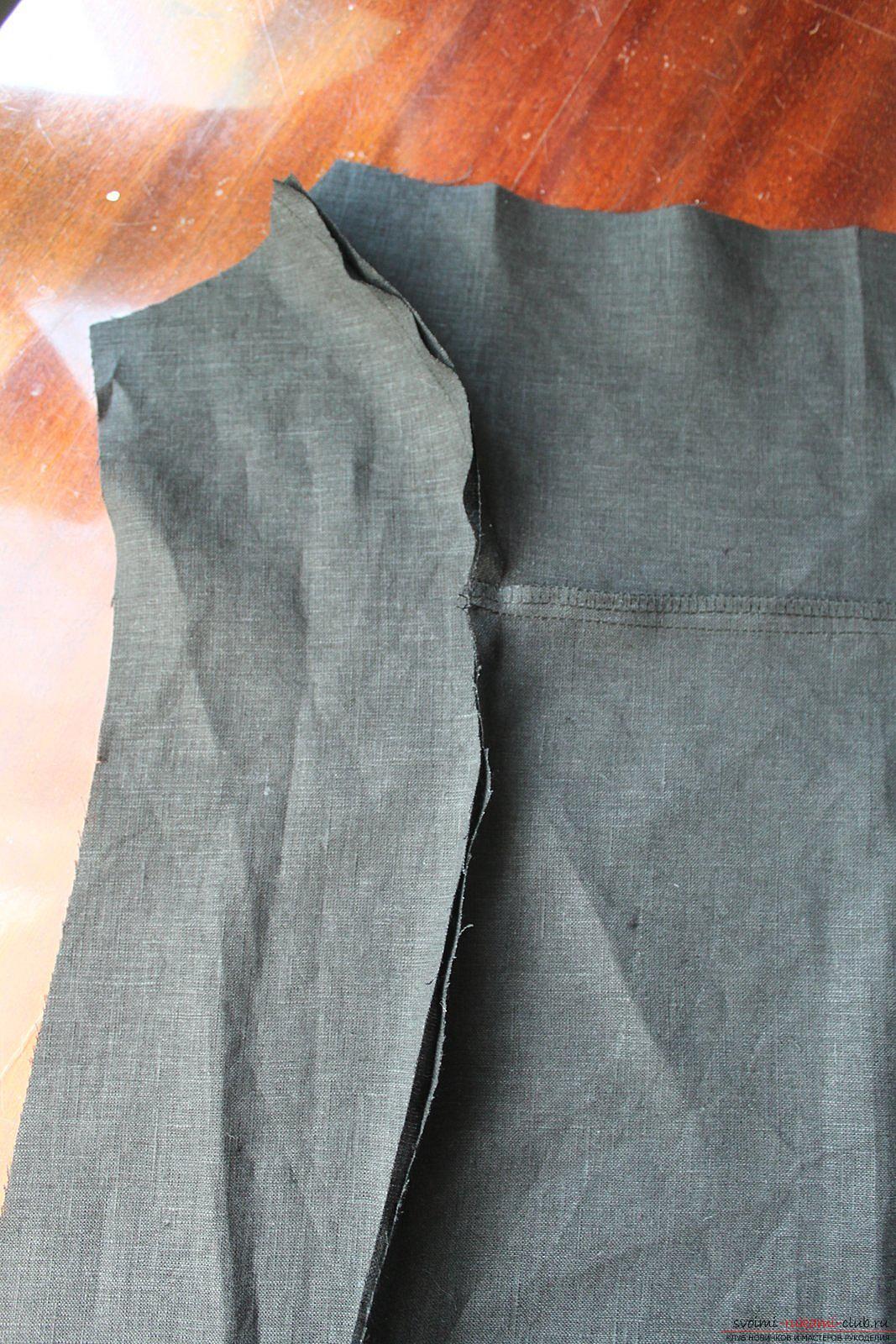 Этот подробный мастер-класс с фото и описанием научит как сшить своими руками платье из льна.. Фото №11