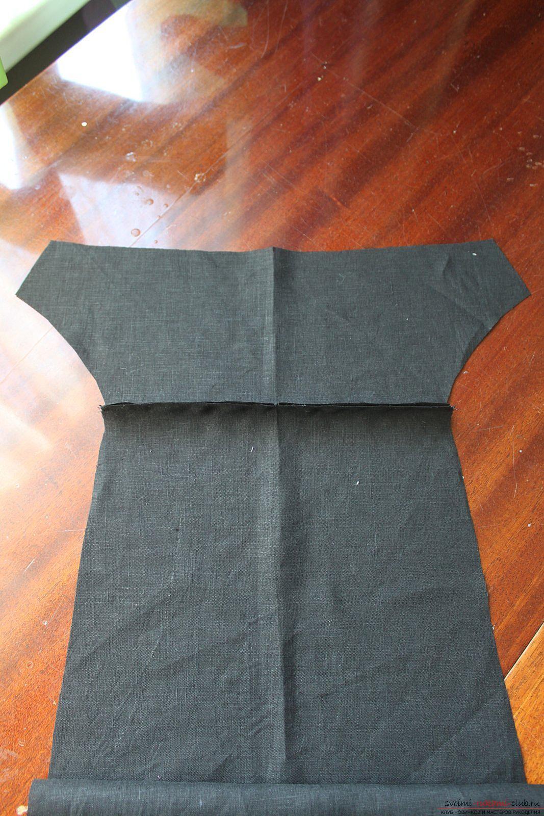 Этот подробный мастер-класс с фото и описанием научит как сшить своими руками платье из льна.. Фото №6
