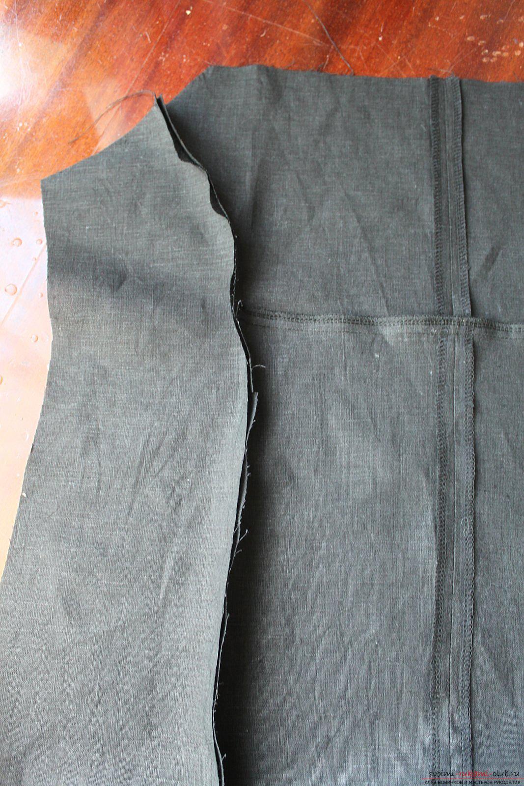 Этот подробный мастер-класс с фото и описанием научит как сшить своими руками платье из льна.. Фото №12