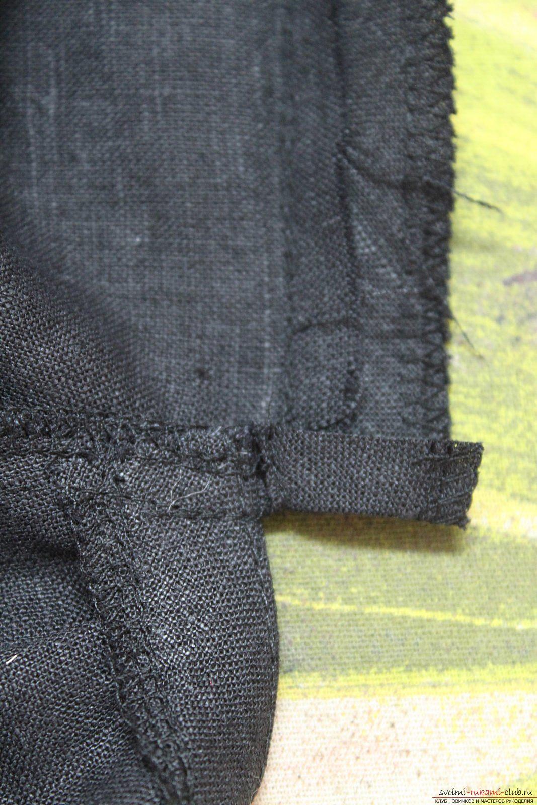 Этот подробный мастер-класс с фото и описанием научит как сшить своими руками платье из льна.. Фото №33